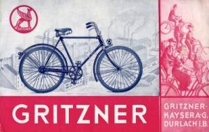 Gritzner Fahrrad Prospekt ca. 1936
