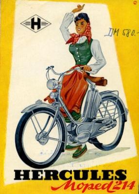 Hercules Moped 214 Prospekt 1953