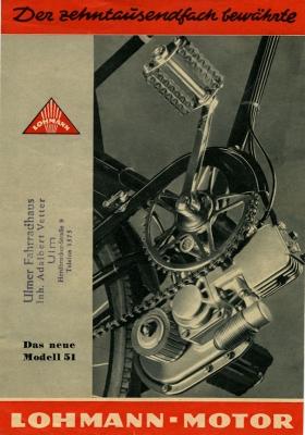 Lohmann Einbaumotor Prospekt 1950er Jahre