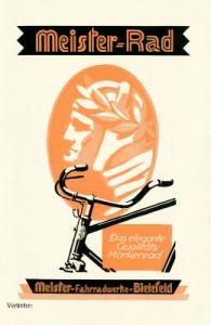 Meister Fahrrad Programm ca. 1930