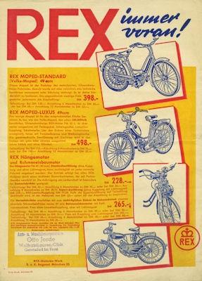 Rex Programm ca. 1951