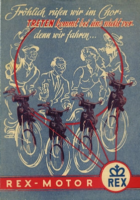 Rex Fahrradmotor Prospekt ca. 1951