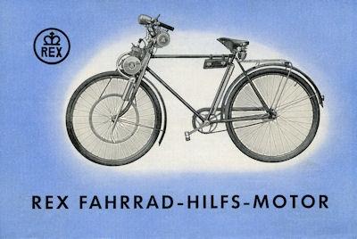 Rex Fahrrad-Hilfs-Motor Prospekt 1953