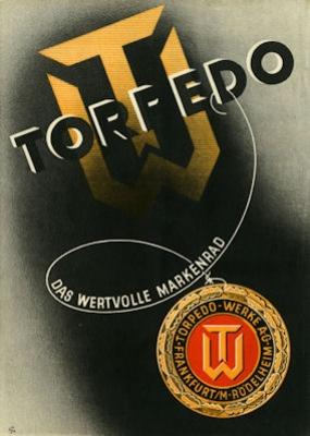 Torpedo Fahrrad und Motorrad Programm 1930er Jahre