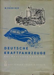 Roediger / Edler Deutsche Kraftfahrzeuge nach 1945 von 1955