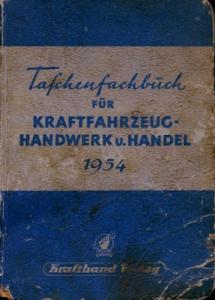 Taschenfachbuch für Kfz-Handwerk u. Handel 1954