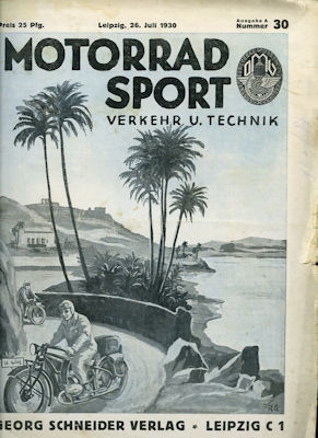 Motorrad Verkehr Sport und Technik 1930 Heft 30