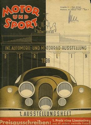 Motor & Sport 1936 Heft 7