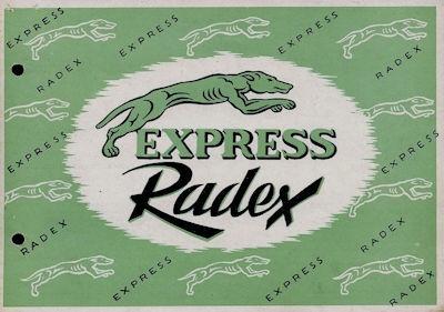 Express Radex 125 Prospekt 1950er Jahre