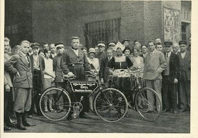 Opel Ansichtskarte 1920er Jahre