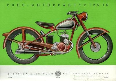 Puch Typ 125 TS Prospekt 9.1949