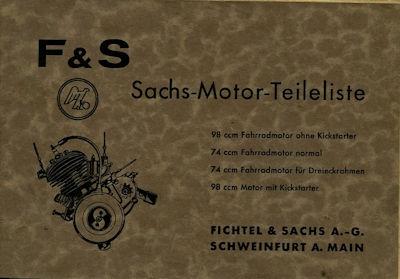 Sachs Motor 74 / 98 ccm Ersatzteilliste 5.1935