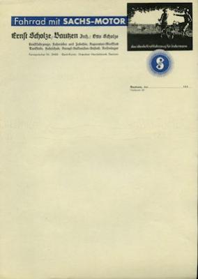 Sachs Brief 1930er Jahre