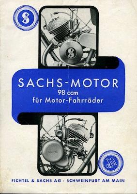 Sachs Motor 98 ccm für Motorfahrräder Prospekt 11.1937