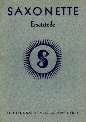 Sachs Saxonette Motor Ersatzteilliste 12.1938