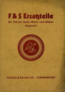 Sachs 124 ccm Motor und Naben Ersatzteilliste 7.1941