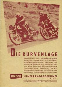 Jurisch Hinterradfederung Prospekt 1951