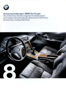 BMW 8er Sonderausstattung Prospekt 1999