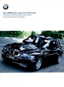 BMW Z 3 Coupé 2.8 / M Coupé Prospekt 1999