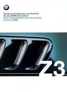 BMW Z 3 Sonderausstattung Prospekt 1999
