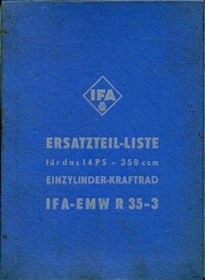 EMW R 35-3 Ersatzteilliste 1953