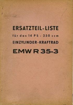 EMW R 35-3 Ersatzteilliste 1964