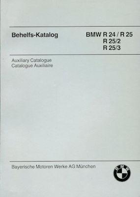 BMW R 24, 25, 25/2 und 25/3 Ersatzteilliste 1955 / Reprint ca. 1980