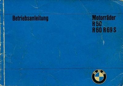 BMW R 50, R 60 und R 69 S Bedienungsanleitung 3.1967
