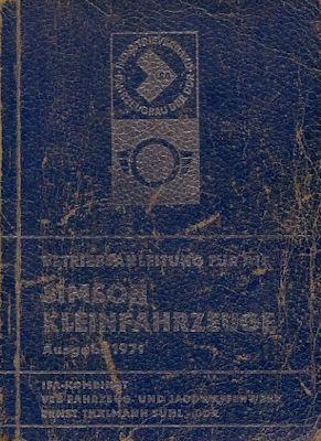 Simson Kleinfahrzeuge Bedienungsanleitung 1971