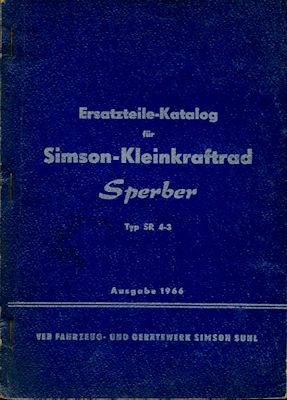 Simson Kleinkraftrad SR 4/3 Sperber Ersatzteilliste 1966