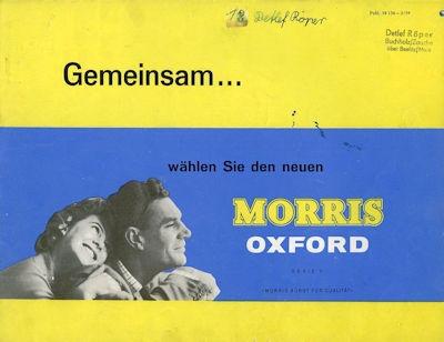 Morris Oxford Serie V Prospekt 1959