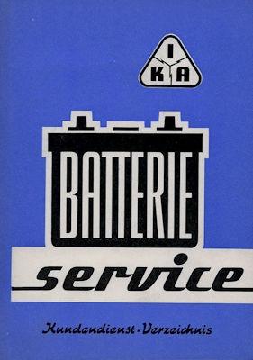 IKA Batterie Service Kundendienst Verzeichnis der DDR 1962