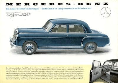 Mercedes-Benz 220 Prospekt 8.1954