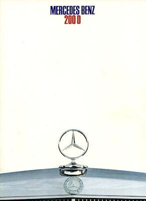 Mercedes-Benz 200 D Prospekt 12.1968