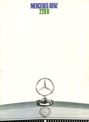 Mercedes-Benz 220 D Prospekt 12.1968