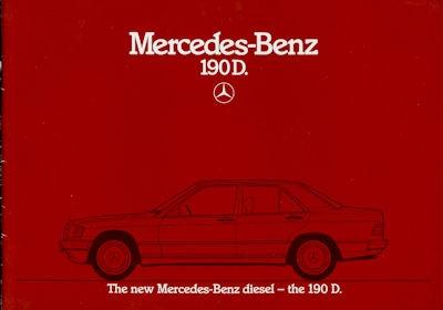 Mercedes-Benz 190 D Prospekt 1984 e