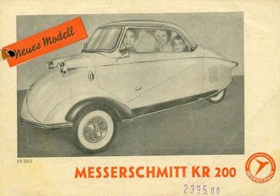 Messerschmitt KR 200 E Prospekt ca. 1955