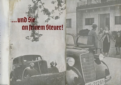 Opel 1,3 Ltr. / 1,9 Ltr. Prospekt ca. 1934