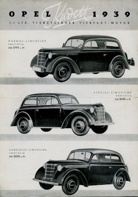 Opel Kadett Prospekt 1939