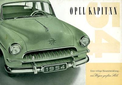 Opel Kapitän Prospekt 1954