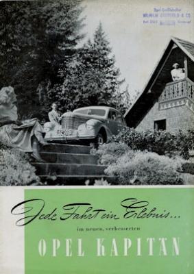 Opel Kapitän Prospekt 1950