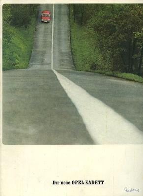 Opel Kadett B Prospekt 1.1966