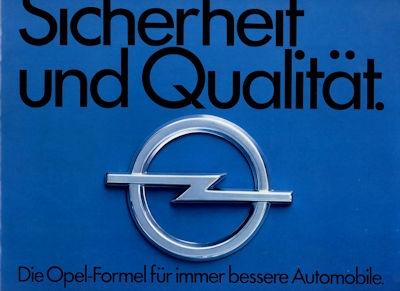 Opel Sicherheit und Qualität Prospekt 6.1974