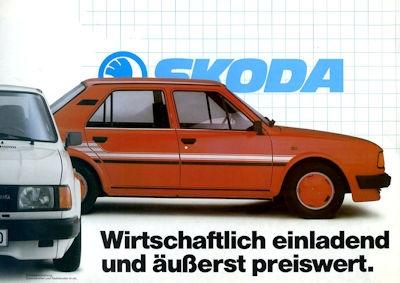 Skoda Programm 1980er Jahre