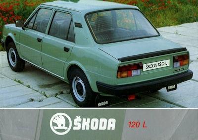 Skoda 120 L Prospekt 1980er Jahre