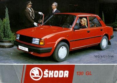 Skoda 130 GL Prospekt 1980er Jahre