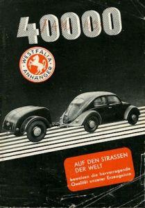 Westfalia Autoanhänger Prospekt 10.1949