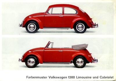 VW Käfer 1300 Farben 8.1965