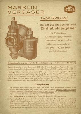 Marklin Vergaser Type RWG 22 1953