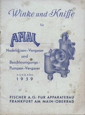 Amal Vergaser Winke und Kniffe 1939